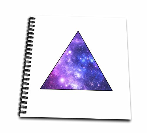 3dRose Outer Space Triangle-Purple Galaxy Stars-Hipster Galaxies-Memory Book, 12 by 12