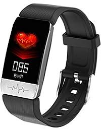 T1 Bluetooth Smart Watch Monitoreo de Temperatura Pulsera Deportiva Medición de la presión Arterial Oxígeno sanguíneo Monitoreo de la frecuencia cardíaca