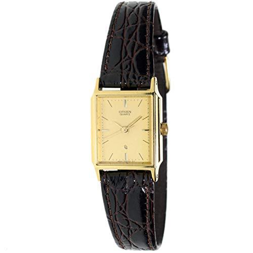 Citizen Ey-0092 Reloj Analogico Para Mujer Caja De Acero Inoxidable Esfera Color Gold