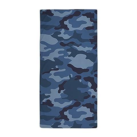 CafePress–Blau Camo Muster,–Große Strandtuch, weiche 76,2x 152,4cm Handtuch mit Einzigartiges Design