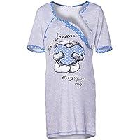 Happy Mama. Donna Prémaman carina camicia da notte gravidanza allattamento.