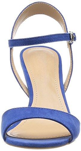 uBeauty,Damen Knöchelriemchen Sandalen Mit Schnalle,Peep Toe Stiletto Blau