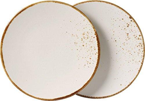vivo by Villeroy & Boch Group Stone Ware White Assiette petit-déjeuner, Lot de 2, 21,5 cm, Grès, Blanc
