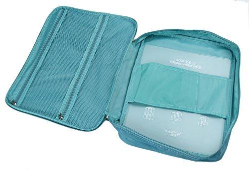 iSuperb - Bolsa multifunción para embalaje para hombre  blanco azul