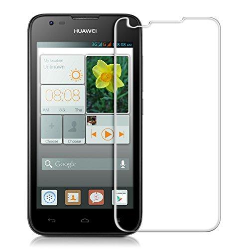 kwmobile Huawei Ascend Y550 Folie - Glas Handy Schutzfolie für Huawei Ascend Y550 - Full Screen Bildschirm Schutz