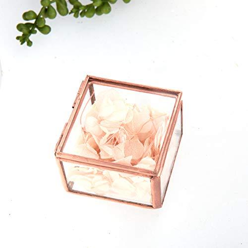 Feyarl Gold Schmuck Schmuckstück Glasbox Verzierten Ring Ohrring Box Konservierte Blume Glas Box Dekorative Box