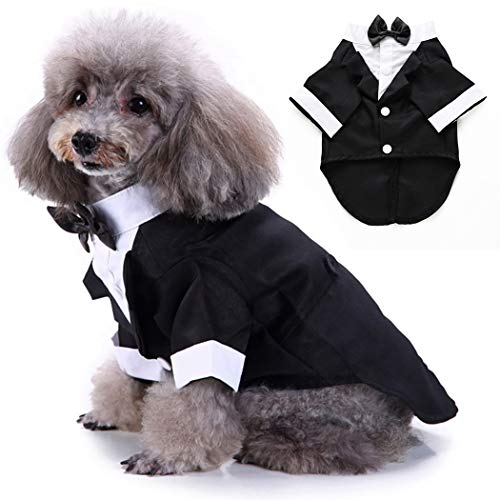 Legendog Hund Kleidung Gentleman Smoking Anzug Haustier Hund Hochzeit Hemd Mit Hals Bogen