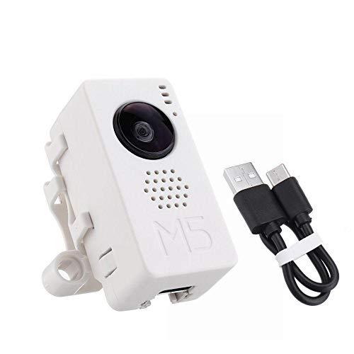 DollaTek M5 Neues Fischaugen-Kameramodul OV2640 Fisheye-Mini-Kameraeinheit Demoboard mit ESP32 PSRAM-Entwicklungsboard Grove Port TypeC Fisheye-port