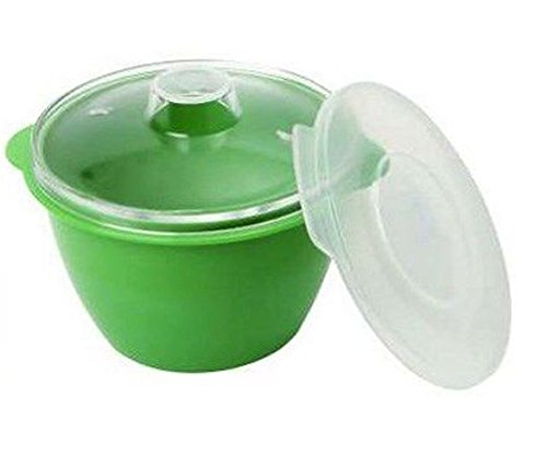 dexam-3-piece-02-litre-polycarbonate-and-plastic-multi-purpose-mini-microwave-pot-with-2-lids-green-