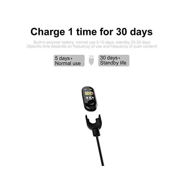 IBISHITAOXUNBAIHUOD Pulsera Inteligente SmartWatch de Pantalla W3 0,96 Pulgadas OLED HD Inteligente Aptitud del Reloj del perseguidor Monitor de Ritmo cardíaco Deportes 9
