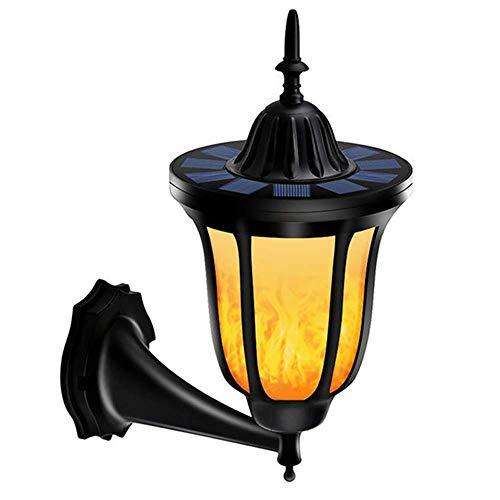 Solar-Wandleuchte, wasserdichte LED-Blink Ende Flamme Licht, An Der Wand Montierte Nachtlicht Für Innenhof, Deck, Veranda, Garten, Etc. -