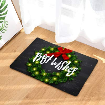KOOCO Decoraciones navideñas hogar 40 * 60 cm Felpudo
