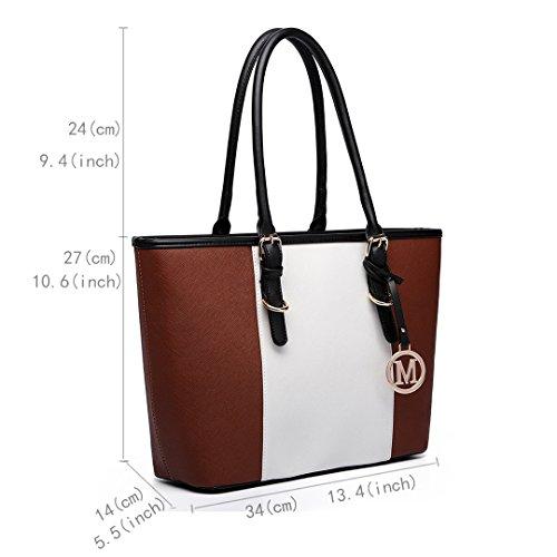 Miss Lulu , Damen Tote-Tasche 1661 Brown