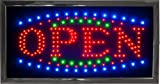 LED Open Sign Bright Flashing Window Hanging Display Neon Light Shop 48x25cm