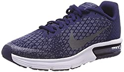 Nike Air Max Sequent 2 (Gs) Gym Shoes, Children, Blue, 6.5y