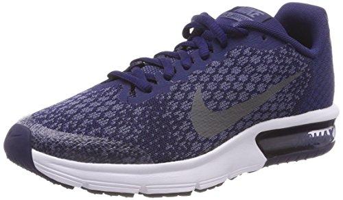 Nike Unisex-Kinder Laufschuh Air Max Sequent 2, Blau (Binary Blue/Dark Gre 405), 37.5 EU