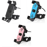 Etbotu Motorcycle Electric Car Bike Clip Support pour téléphone/GPS avec chargeur USB universel Application