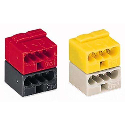 50 Stück Wago Steckverbinder für EIB-Anwendungen, Farbe: grau und gelb verrastet