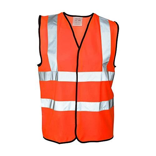 Warrior Absolute Apparel - Gilet Alta visibilità - Uomo (Confezione da 2) (L) (Arancione)