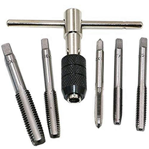 Handgewindebohrer-Set, 6 Stück, M6/M7/M8/M10/M12 metrische Gewinde