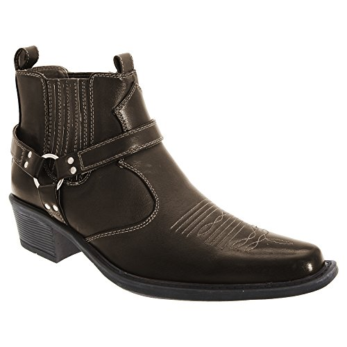 US Brass Eastwood - Bottines style cowboy - Homme Fauve