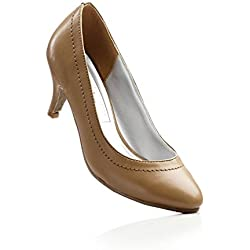 Damen Schuhe in Gr. 40 Pumps Camel Braun hell Kust leder 929997