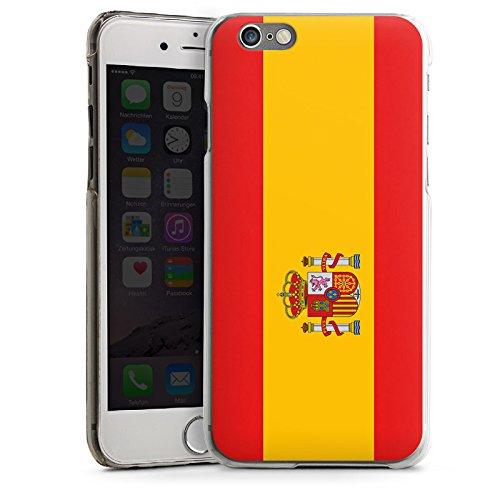 Apple iPhone 5s Housse Étui Protection Coque Espagne Drapeau Ballon de football CasDur transparent