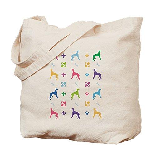 Designer-100% Baumwolle Tote (CafePress–Whippet Designer–Leinwand Natur Tasche, Reinigungstuch Einkaufstasche Tote S khaki)