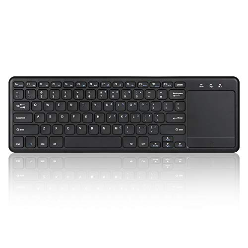 Perixx PERIBOARD-716 III Wireless Keyboard with Touchpad - X Type Scissor Keys - US English Layout - Easy-access-usb-tastatur