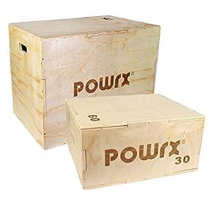 POWRX Plyobox Jump-Box aus Holz für plyometrisches Training I Sprungkasten Sprungkrafttrainer in versch. Größen
