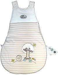 Baby Schlafsack beige mit Applikation - Naturkleidung 90cm