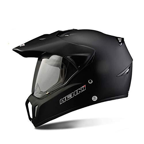 Full Face Motorradhelm Herren Offroad Motorradhelm Motorradhelm Cross Country Offroad Offroad Helm Herren Farbe Mattschwarz M -