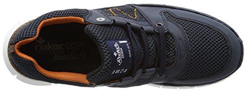 Rieker B4813 Sneakers-men, Baskets Basses homme Bleu - Blau (denim/atlantis / 14)