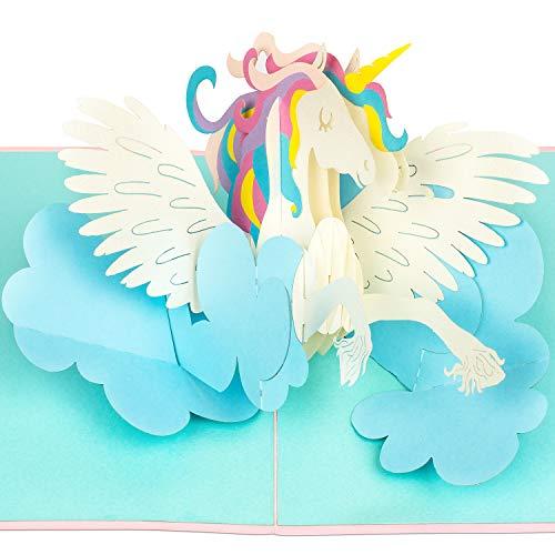 PaperCrush Pop-Up Karte Einhorn [NEU] - 3D Geburtstagskarte Unicorn, Lustige Einhornkarte für...