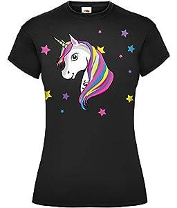 Camiseta mágica de unicornio arcoíris