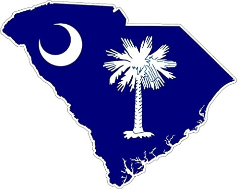 South Carolina Map USA American Flag Sticker/Car Sticker