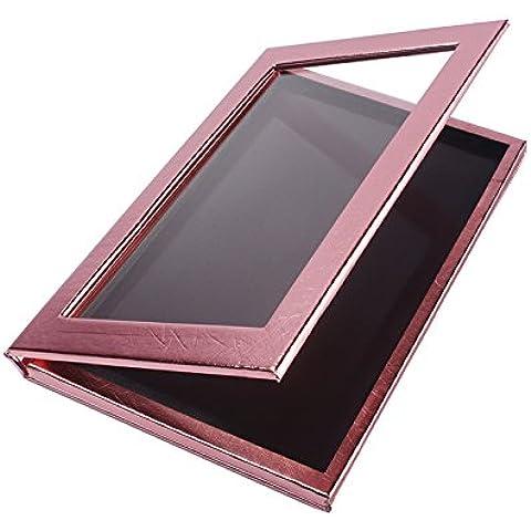 Neceser Tamaño grande, con cierre magnético, paleta de viaje, vacío, para maquillaje, rosa