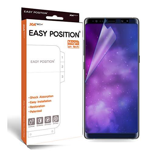 EASY POSITION Bildschirmschutzfolie für Galaxy Note 8 Case friendly - 2 Stück mit Selbstheilungsfunktion, Stoßdämpfung, keine Blasenbildung, glasklar & perfektem Touchfeeling. Gemacht für eine einfache, schnelle, saubere & passgenaue Installation.