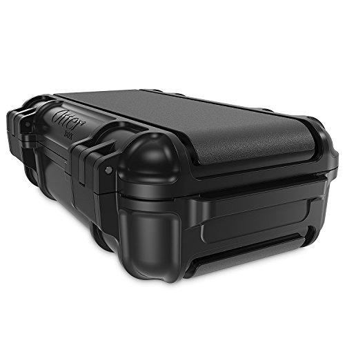 OtterBox Drybox wasserdichte Smartphone Transportbox, Blau Schwarz (Schwarz/Schwarz)