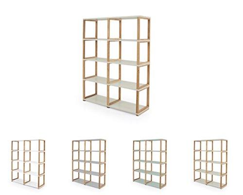 Tenzo 2324-083 ART Designer Etagère/Séparation de pièce Panneaux de particules/Chêne massif Beige/Chêne 120 x 36 x 156 cm