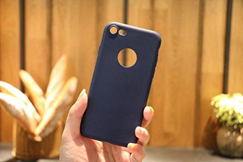 Custodia per Apple iPhone 7 , IJIA Puro Rosa TPU Silicone Morbido Protettivo Coperchio Custodia Bumper Protettiva Case Cover per Apple iPhone 7 (4.7) Blue