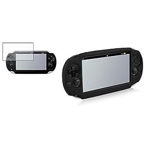 Schwarz EVA Tasche case+3x LCD Folie f�r Sony Playstation PS Vita PSV PS Vita