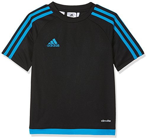 Adidas estro 15 jsy, maglietta da calcio uomo, (nero/azusol), 2xl