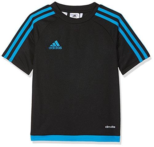 adidas Kinder Estro 15 Jersey Trikot, Black/Solar Blue, 128