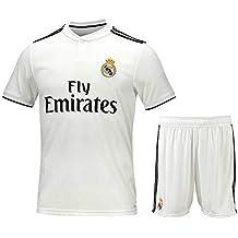bdc8072cf11b4 Camiseta de fútbol Personalizada y Pantalones Cortos Real Madrid 2018-2019  Nueva Temporada Kits de