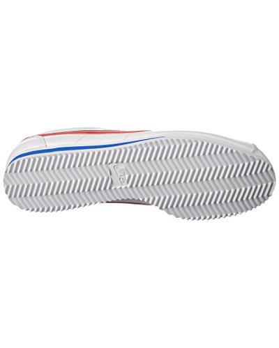 Nike Classic Cortez Prem, Chaussures de Running Entrainement Homme, Blanc, 45,5 EU Blanc / rouge / bleu (blanc / rouge université - bleu roi université)