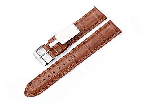Vintage Uhrenarmband 18mm Buntes Genitalsit-Watchstrap-Lins423 aus echtem Leder mit Dornschließe für Bands Herren High-End -