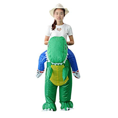 Dinosaurier Kostüm Ziel - OLLVU Kinder Halloween Aufblasbare Dinosaurier Kostüm Cartoon Hosen Spielzeug Zeigen Monster Kleidung Polyester Kleidung Handgemachte Fertigkeit (Color : Green, Size : 125-150cm)