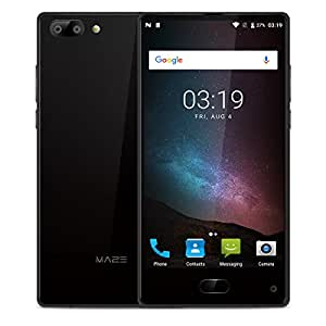 "MAZE Alpha Smartphone, 6.0"" FHD Display Android 7.0 4G, MTK6757 Octa-Core 2.5GHz, 4GB RAM + 64GB ROM, Dual Rear Camera 13.0MP+5.0MP, Dual Sim, Fingerprint Recognition, GPS/OTG Cellulare - Nero"
