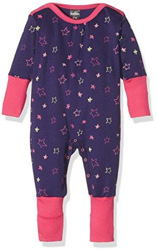 Schiesser Baby-Mädchen Strampler Anzug mit Vario, Blau (Dunkelblau 803), 74 (Herstellergröße: 074)